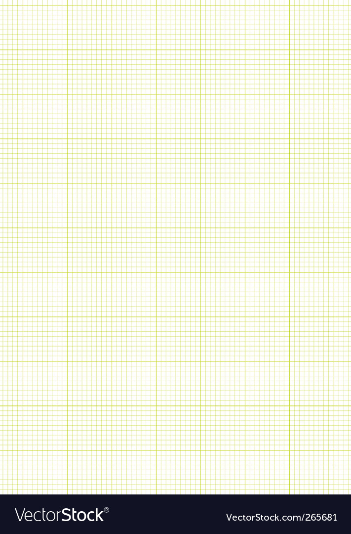 Graph paper a4 sheet green vector