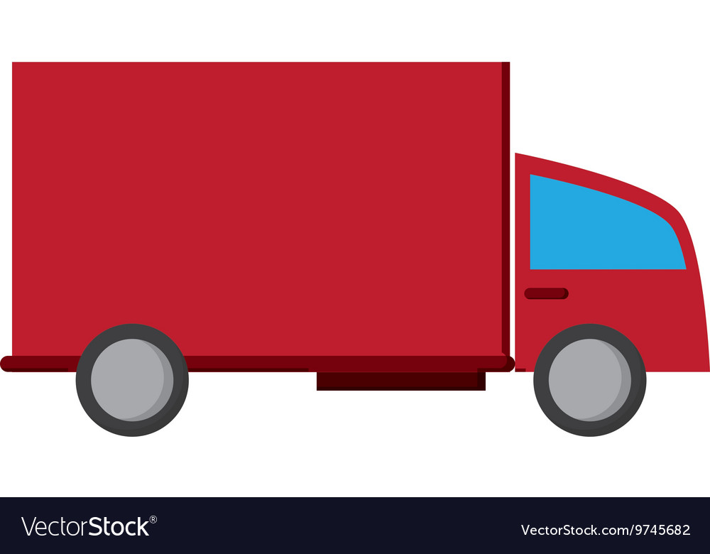 Truck transport delivery shipping service vector