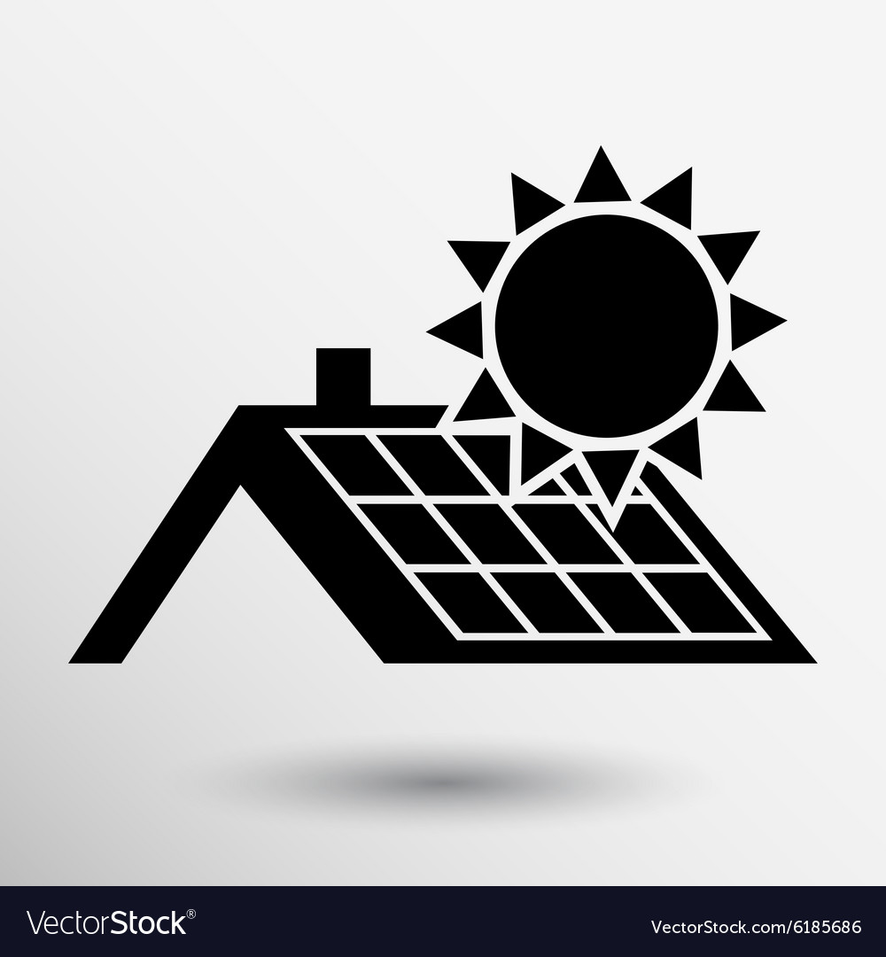 Solar panels roof icon button logo symbol concept vector