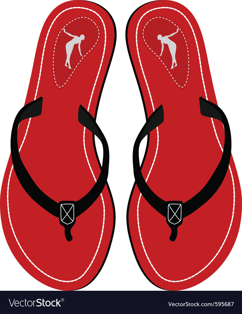 Red sandals vector