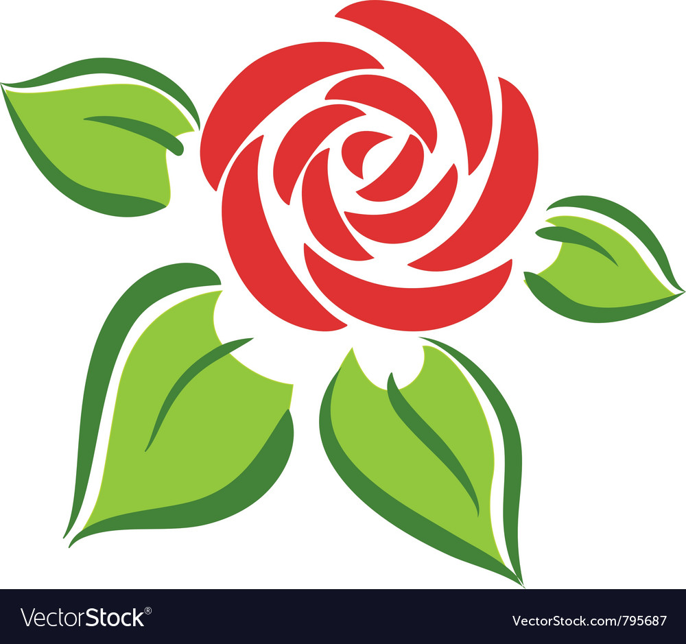Rose flower symbol tatoo vector
