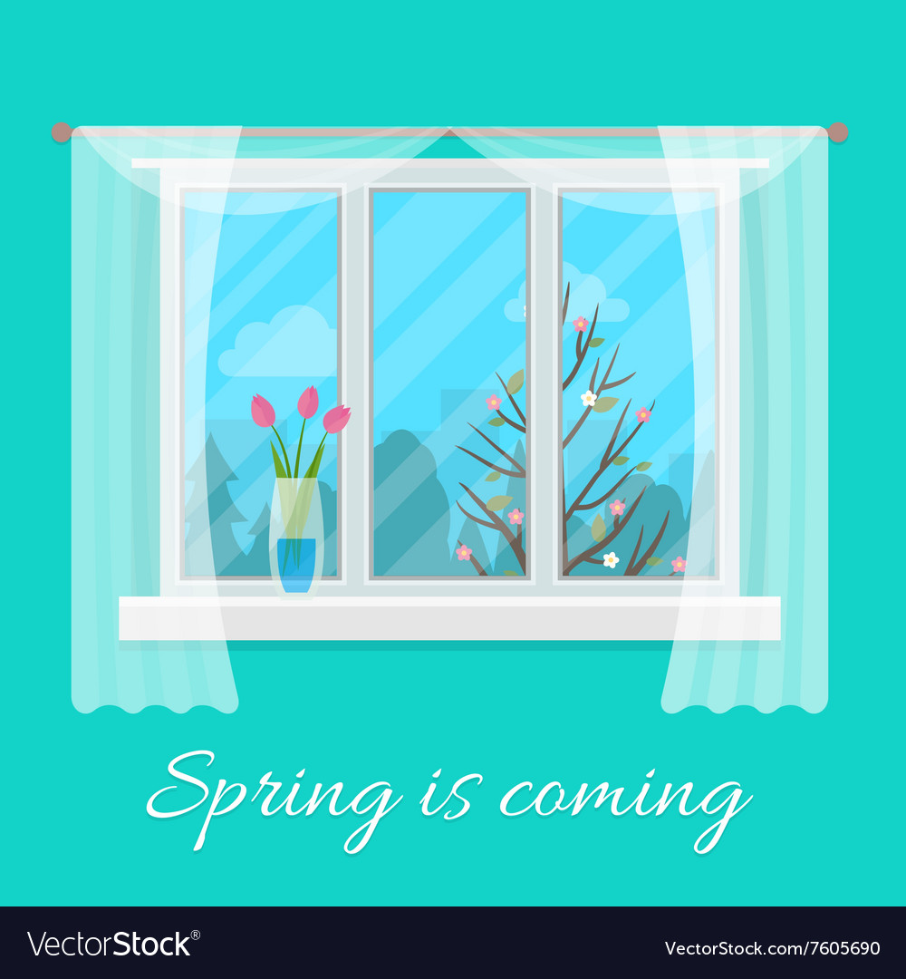 Spring window vector
