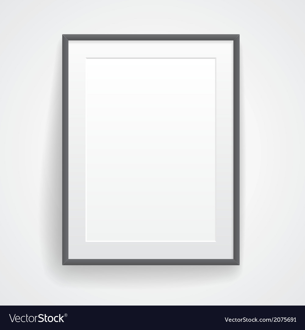 Blank paper poster with frame vector