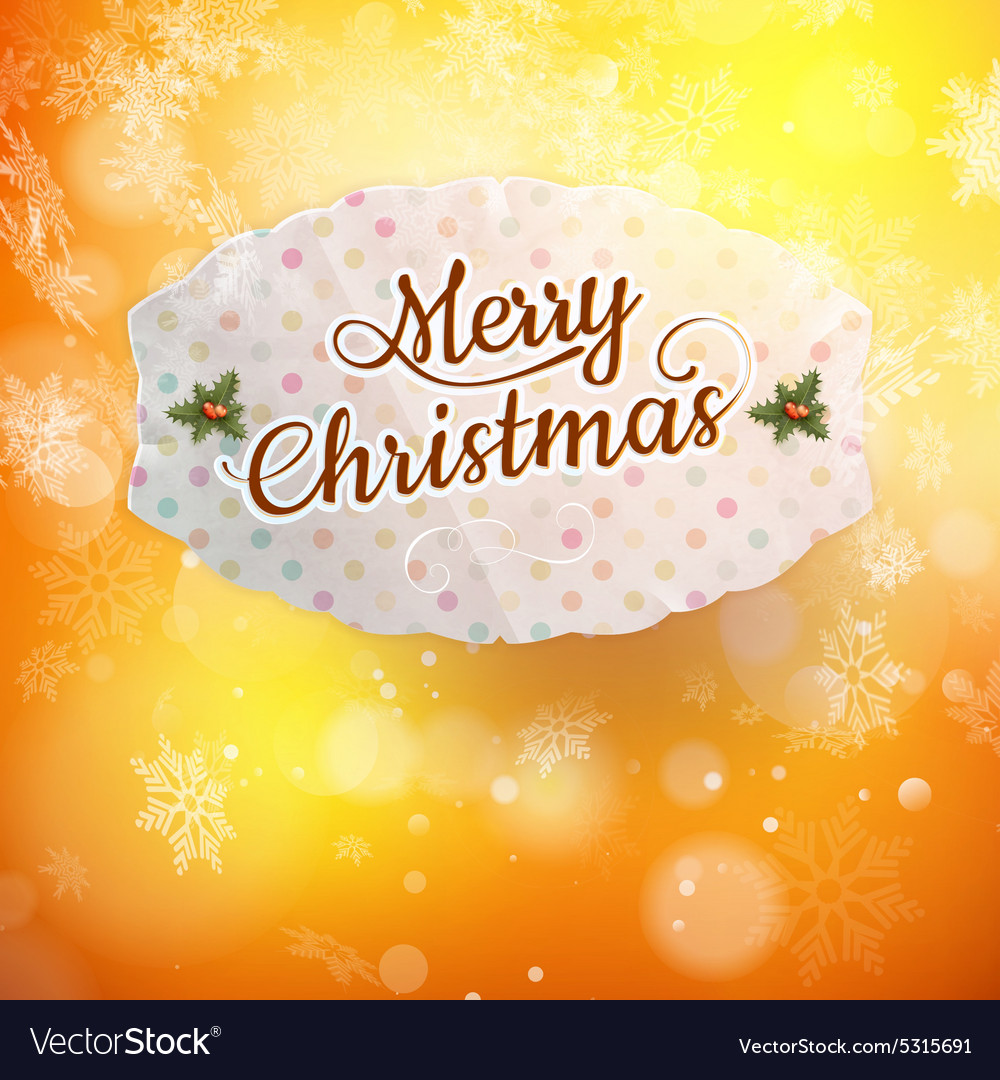 Merry christmas greeting card eps 10 vector