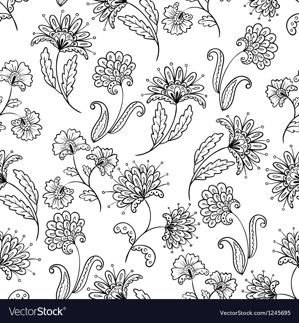 Lineart seamless vector