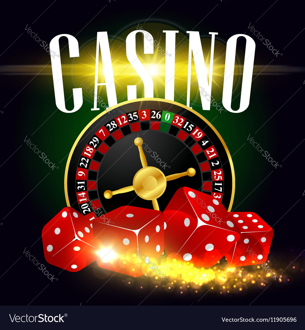 Casino wheel of fortune poster vector