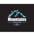 mountain icon design vector image