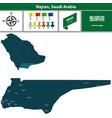 map of najran saudi arabia vector image vector image