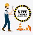 Construction digital design vector image