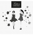 collection of fashion girls vector image