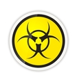 Bright biohazard modern icon with shadow on white vector image