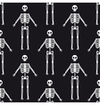 Seamless pattern with white skeletons vector image vector image