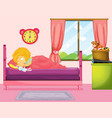 little girl sleeping in bedroom vector image