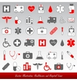 Medical icons and symbols healthcare vector image