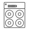 speaker box icon outline style vector image