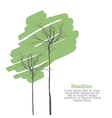 green trees on white vector image vector image