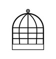 iron cage black color icon vector image