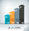 Real Estate Abstract Concept Infographic Chart vector image