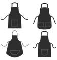 Black apron set isolated on white vector image