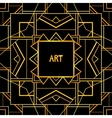 Abstract geometric art patterned background 1920s vector image