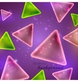 abstract shiny background with triangle shapes vector image