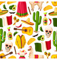 cinco de mayo mexican holiday seamless pattern vector image