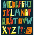 colorful 3d alphabet vector image