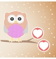 cute owl branch vector image