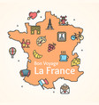 france design template line icon welcome concept vector image