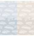 Isolated abstract white color retro cars on the vector image