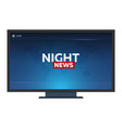 Mass media night news banner live tv show vector image