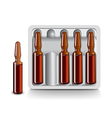 Medical vials for injection isolated vector image