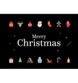 Modern Christmas Card with icons Minimalistic vector image