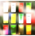 Set of blank rectangle labels vector image