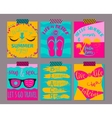 set of bright summer cards Beautiful vector image