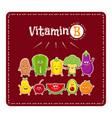 vitamin b vegetables and fruits healthy food vector image