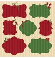 Christmas Cardboard Labels vector image
