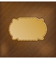 Dark striped background with golden frame for your vector image vector image