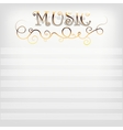 Music background with notes line vector image