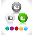 glossy colorful abstract glass balls vector image vector image