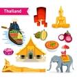 Thailand Travel Set vector image