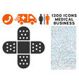 adhesive patch icon with 1300 medical business vector image
