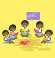african children read books isolated vector image