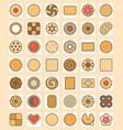 big set of cookies vector image