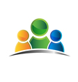 Icon people family vector image