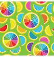 Rainbow lemon seamless background vector image