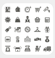 Shopping and Finance icons set vector image