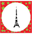 tokyo tower the tallest building of japan black vector image