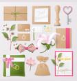 wedding salon corporate identity template set vector image