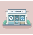 Building laundry flat design Washing mashine vector image